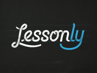 Lessonly Logo — Blue & White