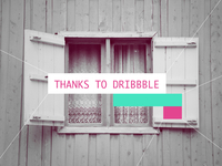 Thanks to dribbble