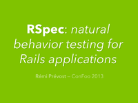 RSpec: natural behavior testing for Rails applications
