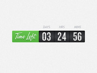 Time Left: Updated Countdown Timer