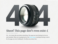 404 Page for a Photography site