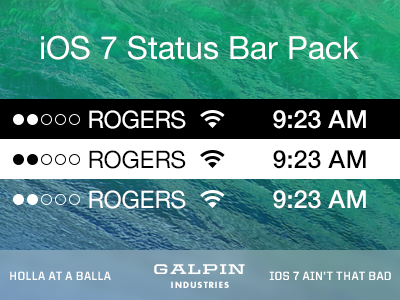 Download iOS 7 Status Bar Pack