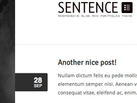 Sentence WordPress Theme Preview