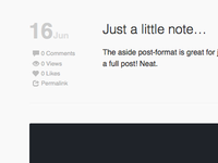 Blog view of the new theme I'm working on.
