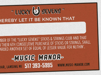 Lucky Sevens Sticks & Strings Club