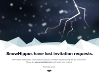 Ooops ... SnowHippos have lost invitation requests.