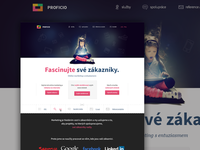 Webdesign for a czech agency