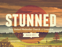 Graphic for upcoming Advent sermon series: Stunned