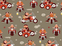 Motorcycle pattern