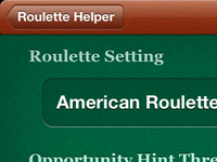Roulette Helper app settings