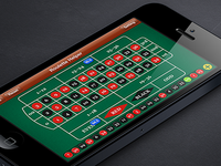 Roulette Helper app main ui design