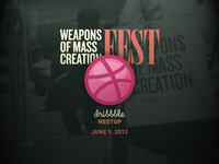 Dribbble Meetup at WMC Fest 2012