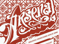 Arsenal Ornate Lettering tutorial
