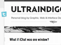 Ultraindigo - Blog Design #01
