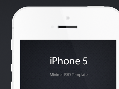 Download Minimal iPhone 5 PSD