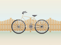Retro Bike Illustration