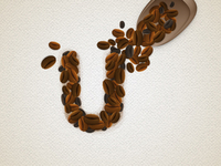 Coffee Beans Text Effect