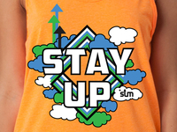Stay Up Tank Top Design
