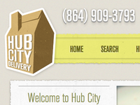 Hub City Delivery home page