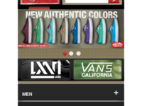 Vans Mobile redesign proposal