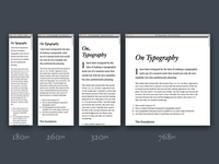 On Typography
