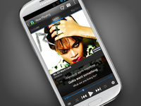 Music Player with lyrics