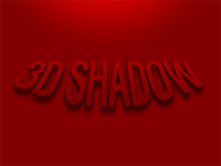 3D Shadow (PSD Freebie)