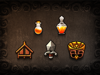 Tiki Kingdom Icons