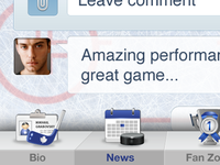 Hockey player app