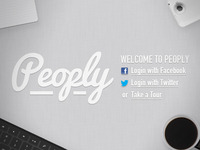 Login page for Peoply.me