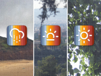 Weather app IOS icon ideas