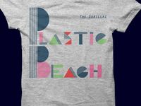 Plastic Beach Shirt Mock Up