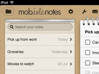 MobisleNotes iPad UI, second try
