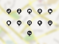 Locations icons