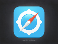 Safari iOS 7 Icon Concept