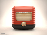 3D Retro Radio IOS Icon