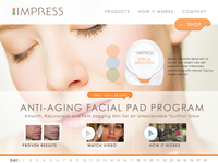 Impress Skin Care Website Design