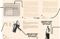 Spencer Brown CD Cover and Fold out.