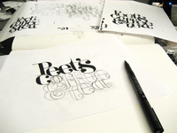 Peet's Coffee & Tea: a new logotype idea sketches