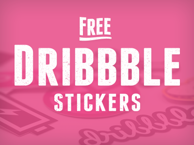 Free-dribbble-stickers