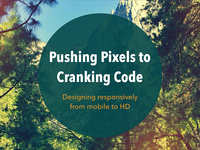 Pushing Pixels to Cranking Code