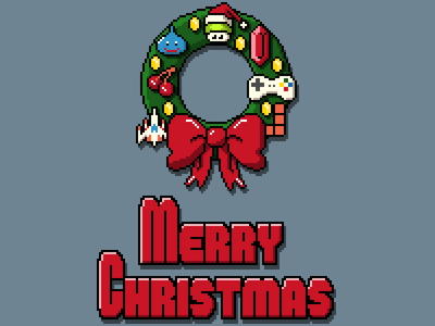 Pixel Christmas (+iPhone Wallpapers)