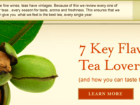 Tea Website Closeup