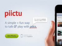 Piictu website's header