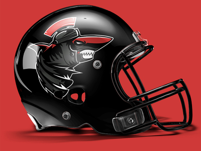 Helmet mock-up of 'Praetorian Sharks'