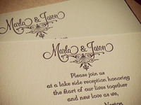 Our Reception Invitation Letterpress