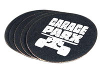 Garage Parx logo on grip tape sticker