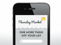 Thursday Market iOS Concept