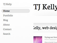 TJKelly.com Redesign 2011