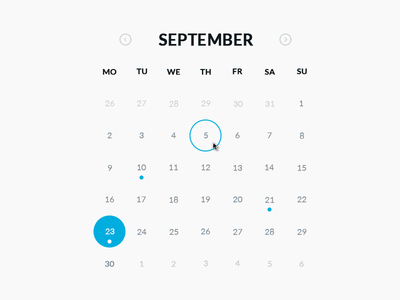 Download Round Calendar PSD